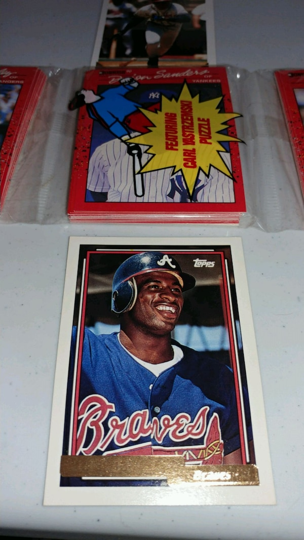 1990 Donruss Value Pack With Deion Sanders On Top
