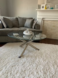 One glass coffee table and one end table  Utica, 13501