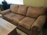 Brown suede 3-seat sofa 3712 km