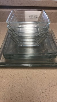 Near Full Set of Glass Square Plates Arlington, 22203