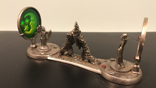 Pewter wizard with hologram