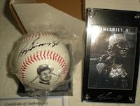 NEW Ken Griffey Jr Silver Card + Replica Autographed Baseball Seattle Mariners
