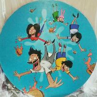 Hand painted bobs burgers bar table