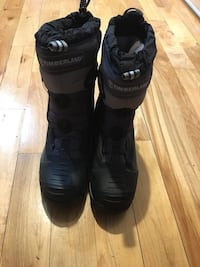Used Timberland pair of black-and-white snow boots for sale in ... f909465f0323