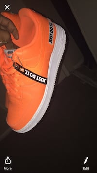 pair of orange Adidas low top sneakers San Antonio, 78229