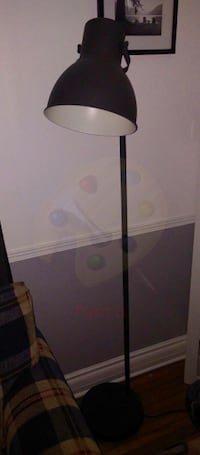 Floor Lamp (spot Light) Comes with LED bulb. Dark Gray in color. Has foot on off switch. Lamp is only a few months old and in perfect condition. Welland Welland