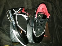 pair of black-and-white Nike basketball shoes Lake Worth