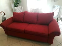 red fabric 3-seat sofa Tucson, 85730