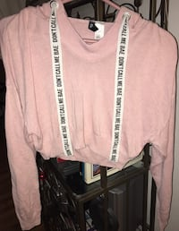 "Pink ""Don't Call Me Bae""Cropped Sweater  Victoria, V8T 4H1"
