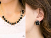 Party princess black necklace and earring Gaithersburg, 20878