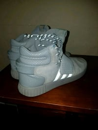 pair of white Adidas high-top sneakers Brantford, N3S 2C3