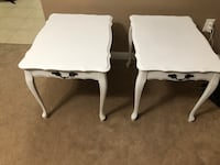 two white wooden side tables Milton, L9T 7S1