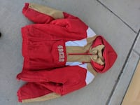 red and white zip-up hoodie Henderson, 89014