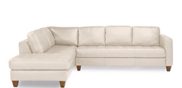 Pleasing Chateau Dax White Leather Sectional Sofa Caraccident5 Cool Chair Designs And Ideas Caraccident5Info
