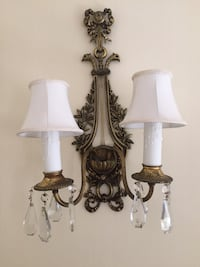 Pair of Antique Brass wall mounted sconces