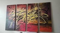 four panel abstract wall arts