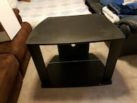 black wooden and glass tv stand Victoria, V9B 3M8