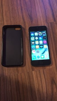 space gray iPhone 5s with black case