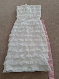 Betsey Johnson White Ruffle Lace Dress Oakville