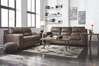 Brand new ashley furniture brown color contemporary sofa and loveseat.  College Park