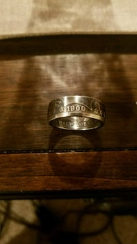 1900 double sided coin ring.. Philadelphia, 19114