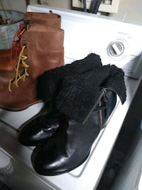 pair of black leather boots Baltimore, 21213