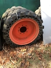 Bobcat demo tires.   4 with rims direct bolt on used a handful of times. 4K new
