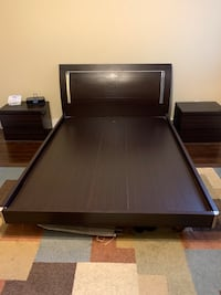 Queen Size Platform Bed Frame w/ Drawers & Lights Washington, 20001