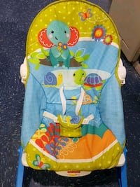 baby's blue and green Fisher-Price bouncer Niagara Falls, L2G 6K3