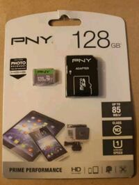 PNY 128GB MicroSD Card w/Adapter Cross Lanes, 25313
