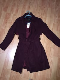 Brand new banana republic maroon trench XS petite (with tags)