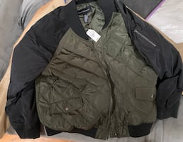 Plus Size 26 Green & Black Quilted Bomber Jacket