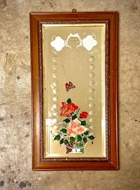 Gorgeous VTG Hand-Painted Mirror In Wood Frame-Flowers & Butterflies  Norman, 73071