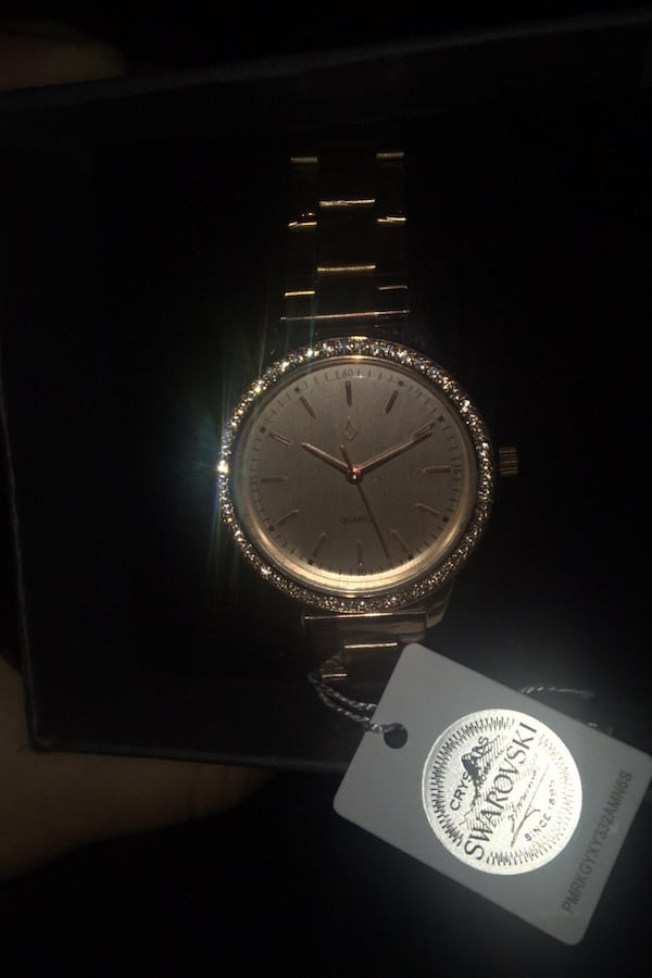 Swarovski rose gold watch. 1