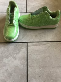 82' Classic Air Force 1's (Lime Green Snake Skin with Mettalic Silver) Las Vegas, 89101