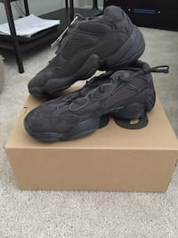 Brand new Yeezy 500 utility black size 10.5 with box, never been worn Los Angeles, 91604