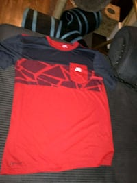 red and black Nike crew-neck shirt with left breast pocket Windsor, N9A 4E2