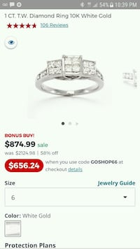 10k SOL white Gold Diamond ring. Burlington, 52601