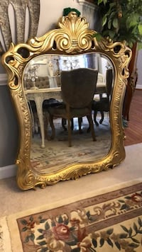 """50""""X40"""" X Large Antique gold solid Wood very heavy mirror Gainesville, 20155"""