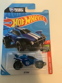 Hot wheels blue rocket league octane video game exclusive diecast car