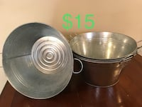 round gray stainless steel bowl 65 km