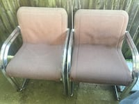 two gray metal framed padded armchairs Fort Washington, 20744