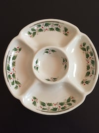 """10""""d 5-part Relish/Candy Serving Tray -Holly Holiday by Royal Limited Arlington, 22204"""