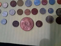 All different kinds of coins