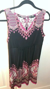 black and pink floral sleeveless dress Las Vegas, 89107
