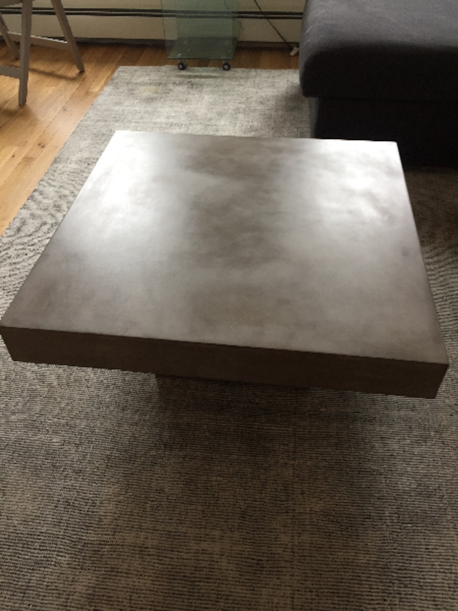 Used CB Element Cement Coffee Table In New York - Cb2 cement coffee table