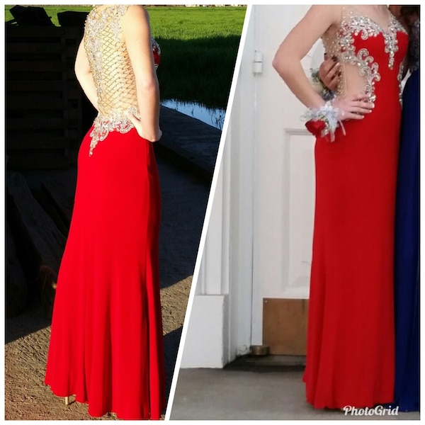 Women's sequined red dress size 2