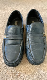 Men's Blue Leather Dress Shoes