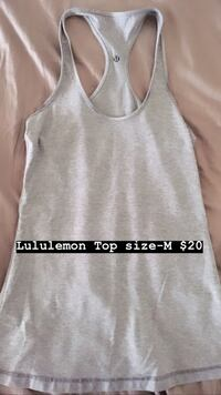 Gray and white tank top by Lululemon Edmonton