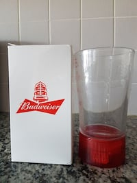 Budweiser Red Light Glass.Battery not included.